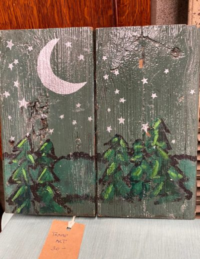 Folk Art on Reclaimed Wood