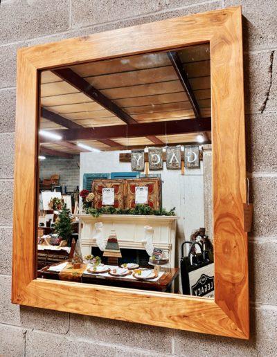 Reclaimed Butternut Wood Mirror