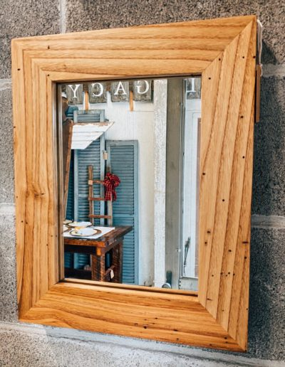 Reclaimed Wormy Chestnut Wood Mirror