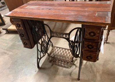 Sewing Table with Reclaimed Wood Top