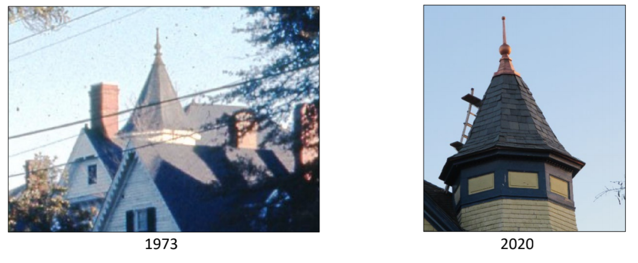 714 Market Street - Front Turret Before & After