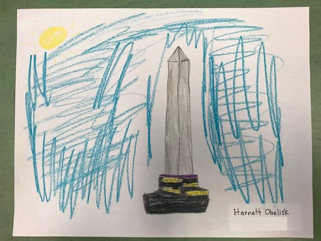 Student Drawing: Harnett Obelisk