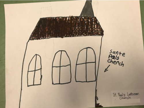 Student Drawing: St. Paul's Evangelical Lutheran Church