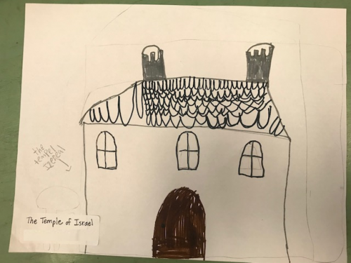 Student Drawing: Temple of Israel