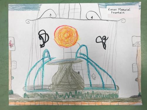Student Drawing: Kenan Memorial Fountain