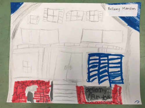 Student Drawing: Bellamy Mansion